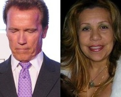 Arnold Schwarzenegger and Mildred Baena