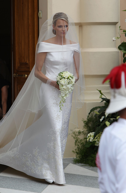 Charlene Wittstock Wedding Dress Gown