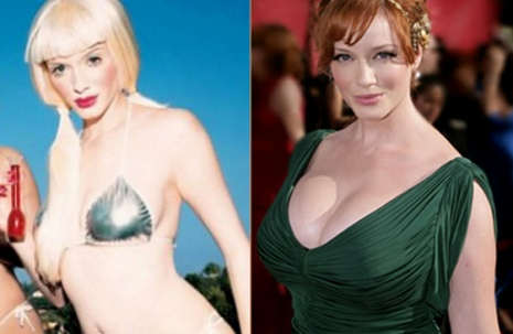 Christina Hendricks Plastic Surgery Before and After Breast Implants