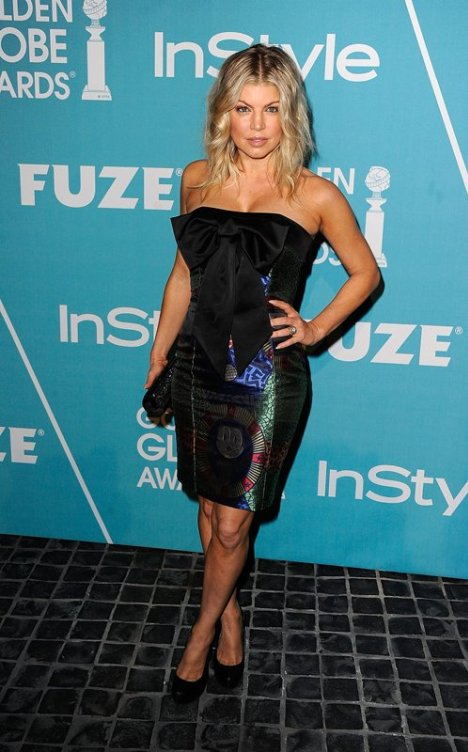 Fergie Felix the Cat Dress at HFPA 2011
