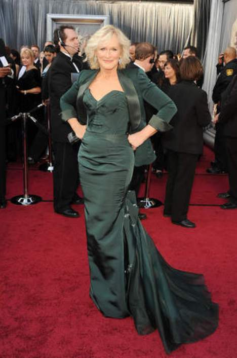 Glenn Close, Oscars 2012, Zac Posen gown, red carpet
