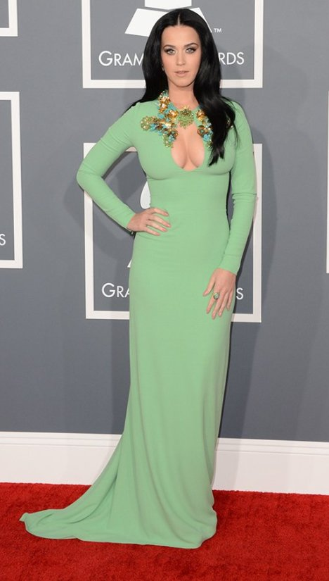 Katy Perry Grammy Awards 2013 Gucci Dress