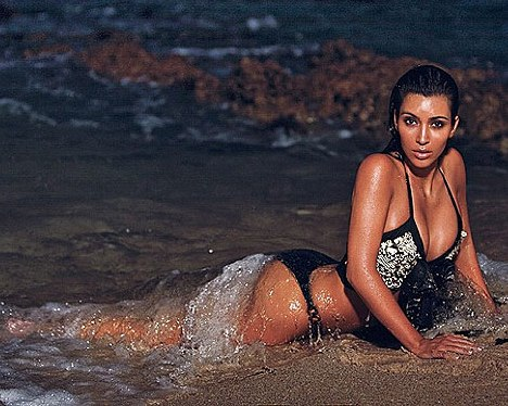 Kim Kardashian Bikini Pictures From Hawaii Trip & Divorce Trial