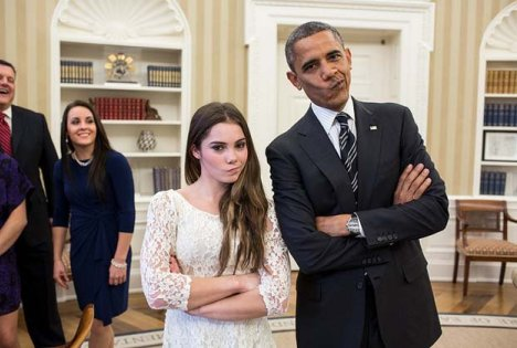 McKayla Maroney and President Obama is Not Impressed Meme
