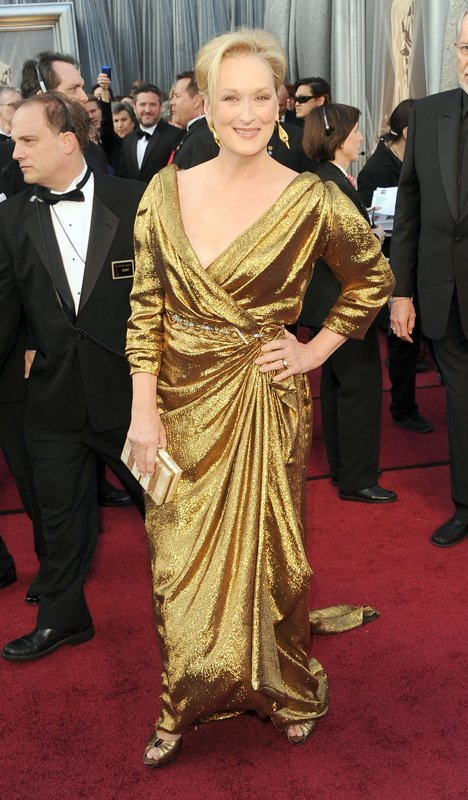 Meryl Streep, Oscars 2012, Lanvin gown, red carpet