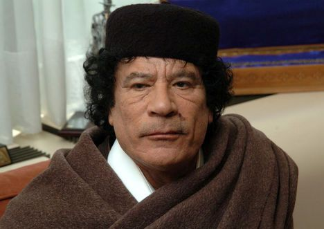 muammar al gaddafi nurse. Libyan Muammar Gaddafi Plastic
