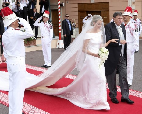 Princess Charlene Wedding Dress Photo