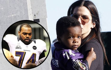 Sandra Bullock and Michael Oher