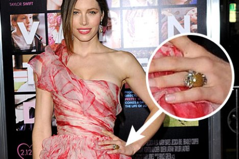 Jessica Biel Engagement Ring
