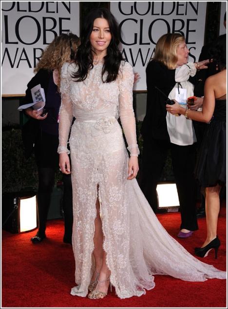 Jessica Biel Golden Globes Award 2012