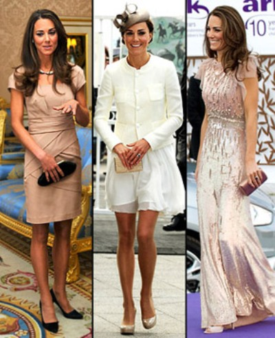Kate middleton post wedding dress showing off her skinny for Post wedding party dress