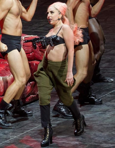 Lady Gaga Gun Bra