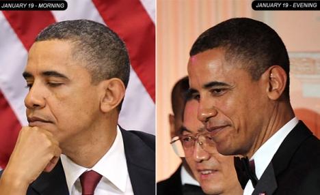 Obama Hair Dyed