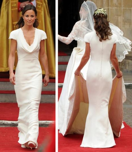 Pippa middleton bridesmaid dress by sarah burton staying for Sarah burton wedding dresses official website