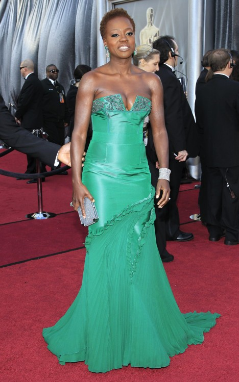 Viola Davis Oscars 2012 Dress